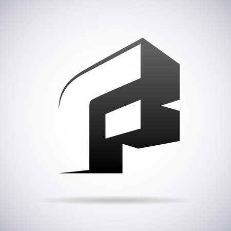 letter F design template vector illustration
