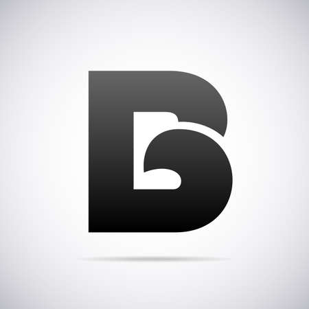 letter B design template vector illustration