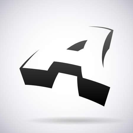 letter A design template vector illustration