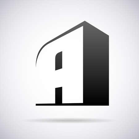 tipos de letras: letra A dise�o de la plantilla ilustraci�n vectorial Vectores