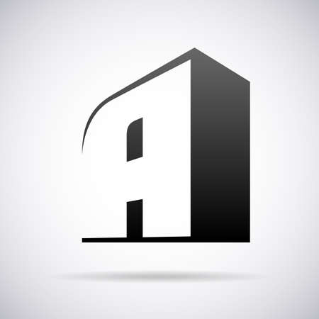 abstract letters: letter A design template vector illustration Illustration