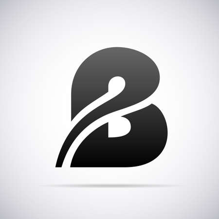 b: letter B design template vector illustration