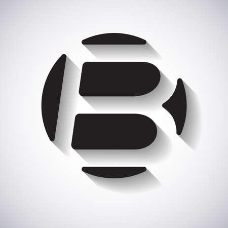 letter B design template vector illustration