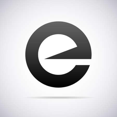 letter E design template vector illustration