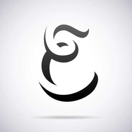 letter e: letter E design template vector illustration Illustration