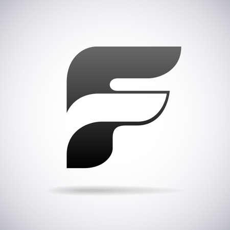 letter F design template vector illustration