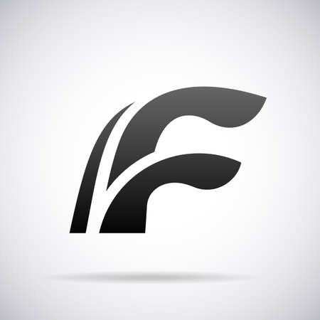 letter f: letter F design template vector illustration