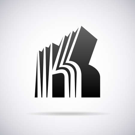 buchstabe k: Buchstabe K-Design-Vorlage Vektor-Illustration Illustration