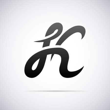 letter alphabet: letter K design template vector illustration