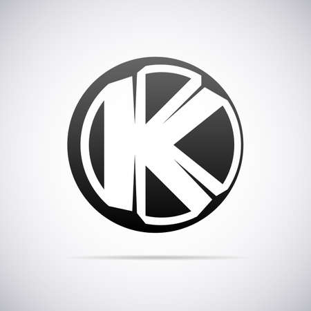 letter k: letter K design template vector illustration