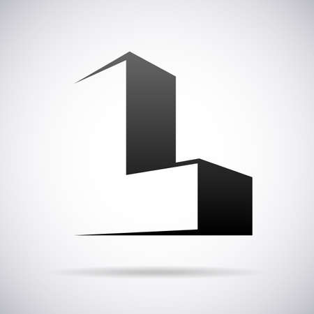 letter L design template vector illustration