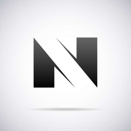letter n: letter N design template vector illustration Illustration