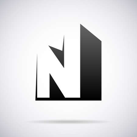 letter N design template vector illustration Çizim