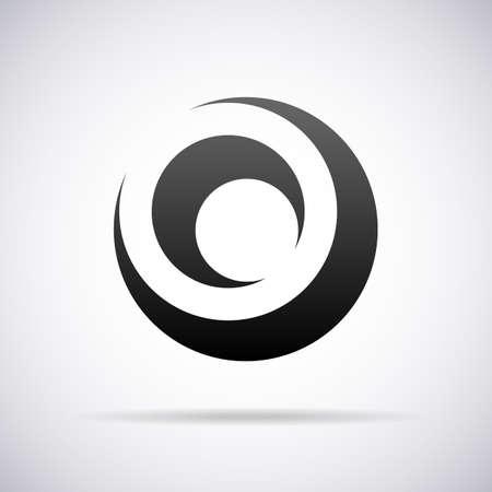 lettre O vecteur modèle de conception illustration