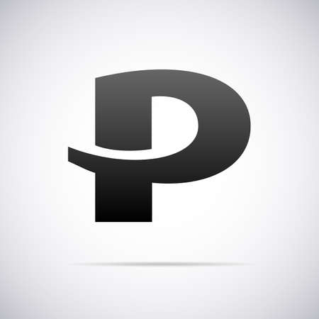 letter P design template vector illustration Illusztráció