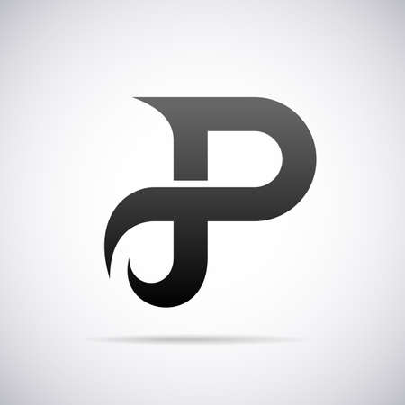 letter P design template vector illustration Çizim