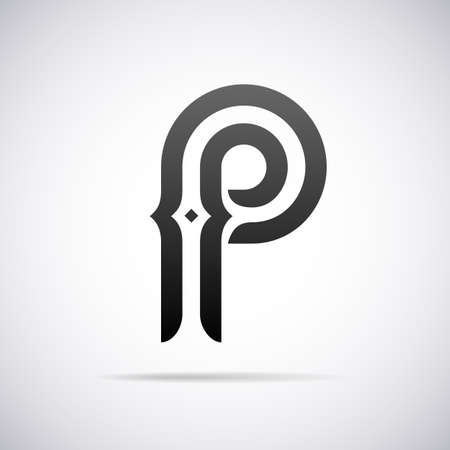 p illustration: letter P design template vector illustration Illustration