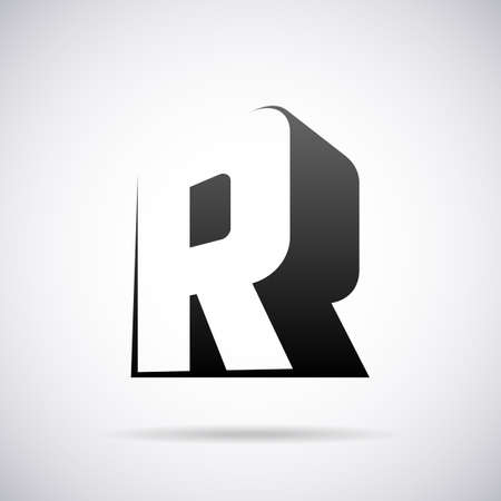 R: letter R design template vector illustration Illustration