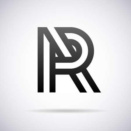 letter R design template vector illustration Illustration