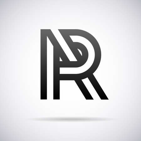 letter R design template vector illustration Vectores