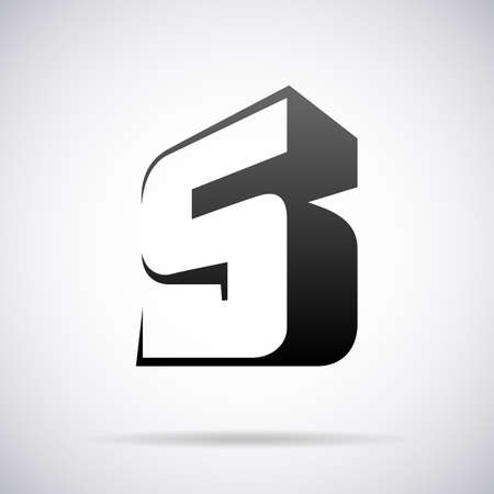 buchstabe s: Buchstabe S-Design-Vorlage Vektor-Illustration Illustration