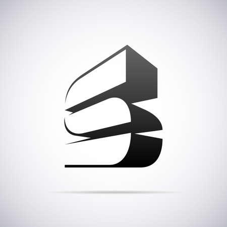 lettre s: conception vecteur mod�le de l'illustration de la lettre Illustration