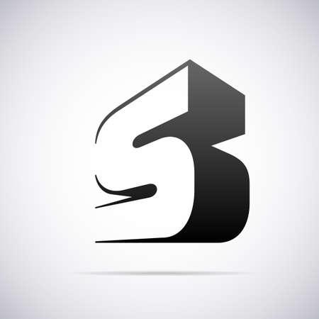 letra s: letra S, ilustraci�n, dise�o de plantilla de vectores