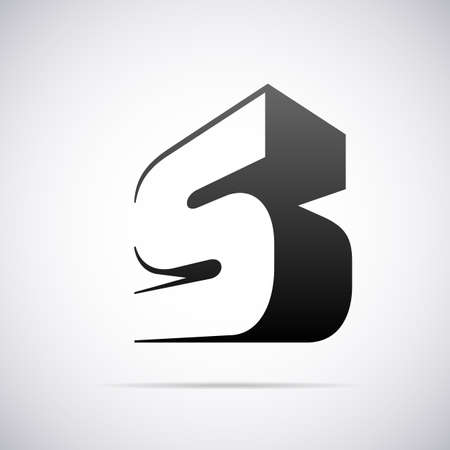 letter S design template vector illustratie Stock Illustratie