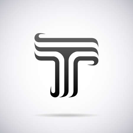 letter T design template vector illustration