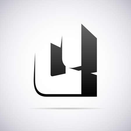 letter u: letter U design template vector illustration Illustration