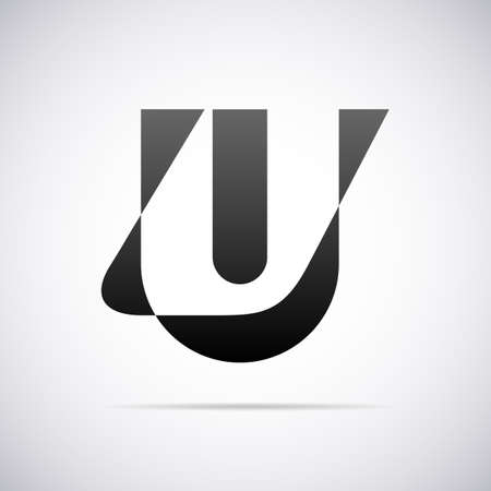letter u: letter U design template vector illustration Illustration