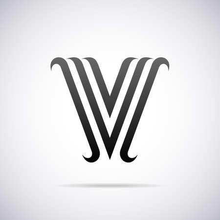 letter v: letter V design template vector illustration Illustration