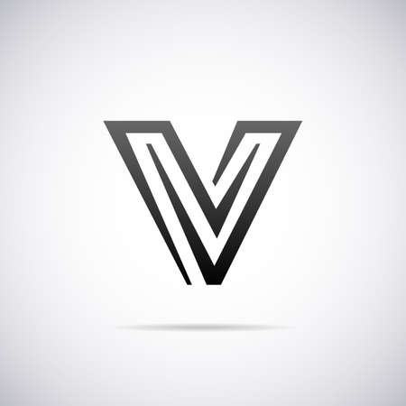 v shape: letter V design template vector illustration Illustration