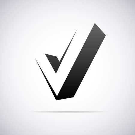 business symbol: letter V design template vector illustration Illustration