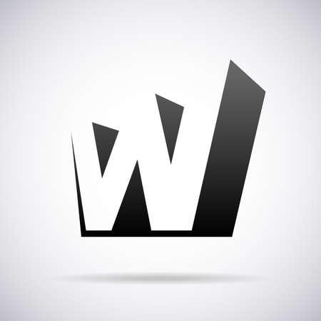 letter W design template vector illustration Stok Fotoğraf - 41837249