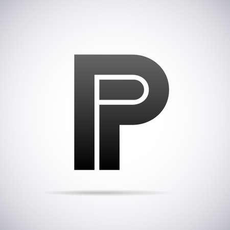 alphabet letter: letter P design template vector illustration Illustration