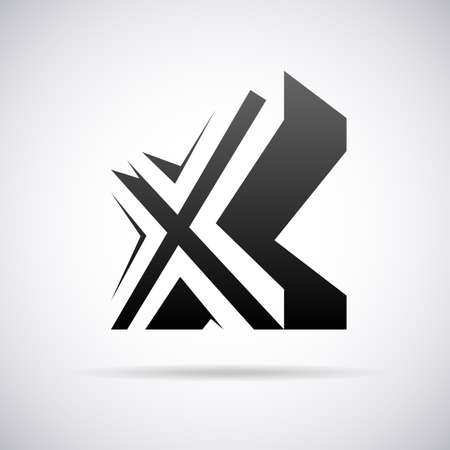 lettre X vecteur modèle de conception illustration