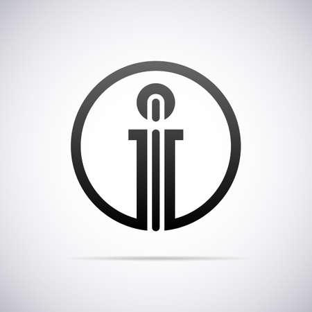 a i:  letter I design template vector illustration