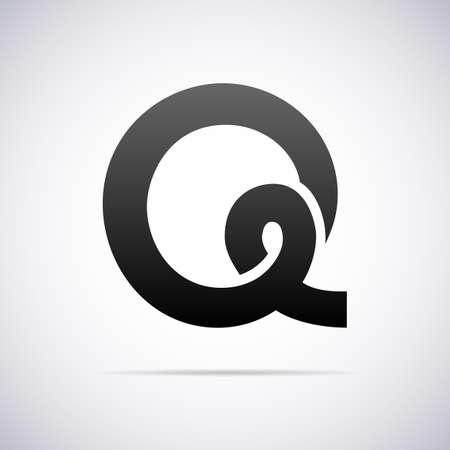 letter q: letter Q design template vector illustration Illustration