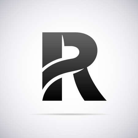 Logo for letter R design template vector illustration Çizim