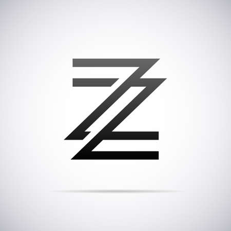 Logo for letter Z design template vector illustration Ilustrace