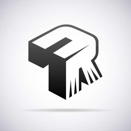 font alphabet: Logo for letter R design template vector illustration Illustration