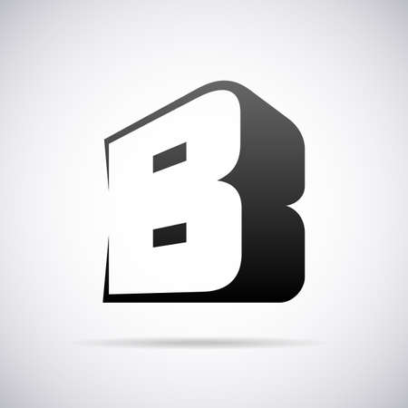 Logo voor letter B design template vector illustratie