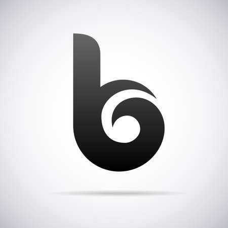 abstract logos: Logo for letter B design template vector illustration