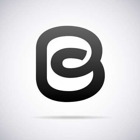 letter b logo for letter b design template vector illustration