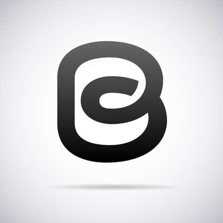 letter b: Logo for letter B design template vector illustration