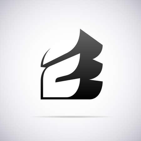 e business: Logo for letter E design template vector illustration