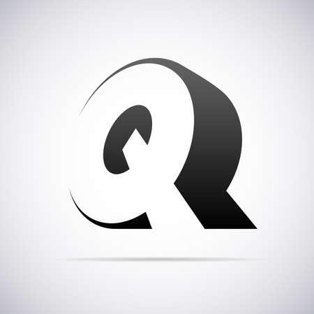 手紙 Q デザイン テンプレート ベクトル図のためのロゴ