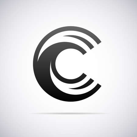 'at' letter: Logo for letter C design template vector illustration Illustration