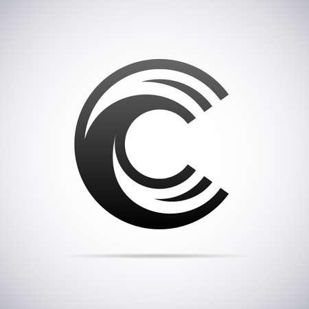 Logo for letter C design template vector illustration Vectores